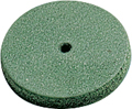 Rubber polisher, green, ø 22 mm, Form: disc