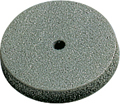 Rubber polisher, grey, ø 22 mm, Form: disc