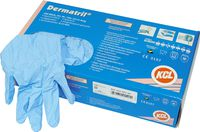 Dermatril® disposable rubber gloves, Size S